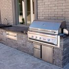Backyard BBQ server with built in sink and Storage