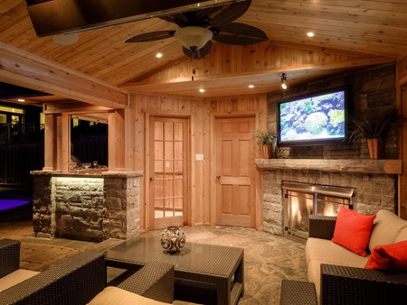 Inside of cabana with TV and Fireplace 3465 inside of cabana with tv and fireplace 1