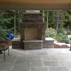 Natural Stone Outdoor Fireplace