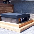 Hot Tub Surround featuring Privacy Screening